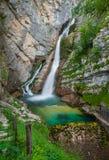 Savica waterfall, Bohinj, Slovenia Stock Image