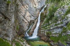 Savica waterfall, Bohinj, Slovenia Stock Images