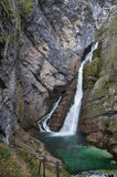 Savica waterfall, Slovenia Royalty Free Stock Photography