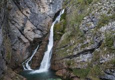 Savica waterfall, Slovenia Stock Image