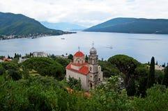 Savina修道院是塞尔维亚人正统修道院 免版税库存图片