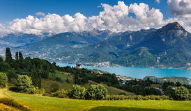 Savines le Lac, Saint Apollinaire, Serre Poncon lake, Alps, France Royalty Free Stock Images