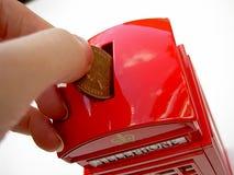 Saving. British telephone saving box Royalty Free Stock Images