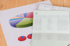 Saving account from bank. Money save Stock Images