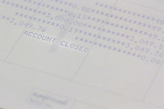 Saving account passbook, book bank. Stock Photos