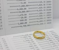 Saving account Passbook Stock Images