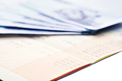 Saving account passbook and new Taiwan dollars Royalty Free Stock Photography