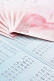 Saving account passbook and new Taiwan dollars Stock Photos