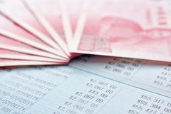 Saving account passbook and new Taiwan dollars Stock Photo