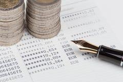 Saving bank passbook Stock Image