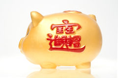 Saving Bank Pig. Gy in Chinese style Royalty Free Stock Photos