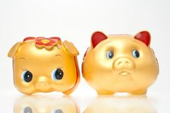 Saving Bank Pig Royalty Free Stock Images