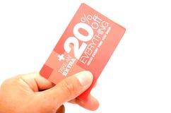 Saving card Royalty Free Stock Photography