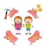 Saving children Stock Images
