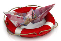 Saving the Chinese economy Stock Photo