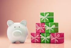 Saving for Christmas Stock Images