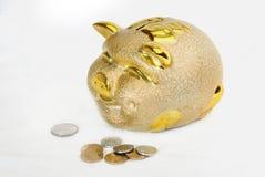 Saving coin box Stock Image