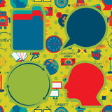 Saving Concept Icon Seamless Pattern Company Immagine Stock Libera da Diritti
