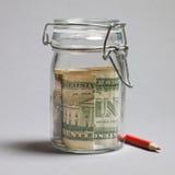 Saving dollar Royalty Free Stock Photo