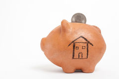 Saving dollars for a new house Stock Image