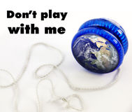 Saving earth. Dont play with our planet Royalty Free Stock Images