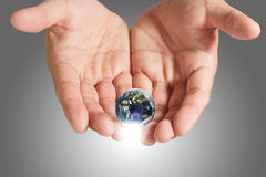 Saving the earth Stock Photo