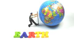 Saving the earth Royalty Free Stock Photos