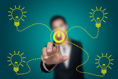 Saving energy. Business ideas about saving energy Stock Images