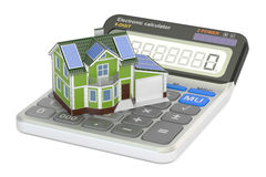 Saving energy consumption for house, efficiency from solar panel Royalty Free Stock Photo