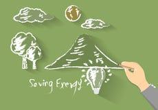 Saving energy lamp bulb polygon Stock Image