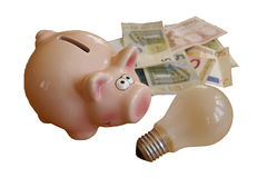 Saving energy and money Royalty Free Stock Image