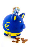 Saving euros Royalty Free Stock Photo