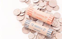 Saving Every Nickel Royalty Free Stock Photos