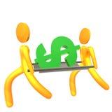 Saving financial crisis 3d humanoid icon Stock Photo
