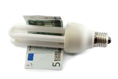 Saving fluorescent lamp Stock Photos