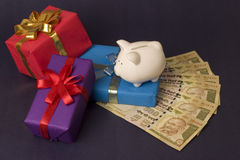 Saving for gifts Royalty Free Stock Images