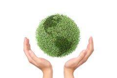 Saving green planet royalty free stock photography