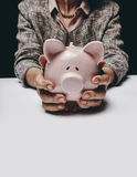 Saving for her retirement Royalty Free Stock Photography
