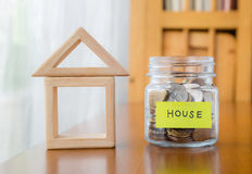 Saving for a home Royalty Free Stock Photo