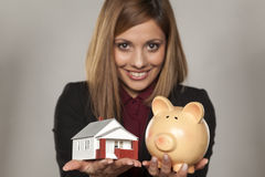 Saving for house Royalty Free Stock Image