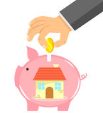 Saving for a house Royalty Free Stock Photo