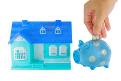 Saving for a House Royalty Free Stock Photos