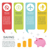 Saving infographic templates Royalty Free Stock Photography