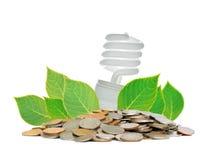 Saving lamp Royalty Free Stock Image