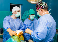 Saving life in hospital Stock Photo