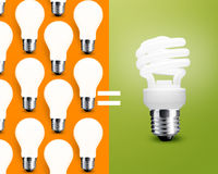 Saving Light bulb Royalty Free Stock Image