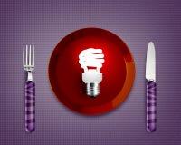 Saving Light bulb Stock Image