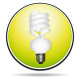 Saving lightbulb icon Stock Image
