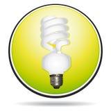 Saving lightbulb icon. Nice saving lightbulb icon button Stock Image