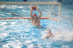 Saving Martin Janus in water polo Royalty Free Stock Images